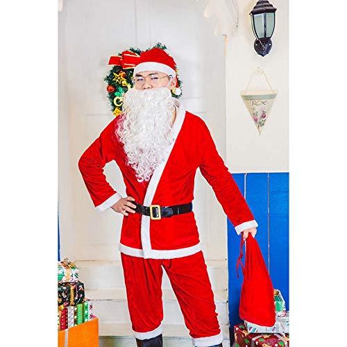 SPFAZJ Santa Anzug Kostüm 2018 Weihnachtskostüm Rollenspiel Weihnachtsmann Leistung Kostüm Kostüm Party