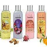 4er Set -Französisches Vintage Duschgel - Un Air d'Antan Exclusiv Parfum : Rose, Süße Mandel,...