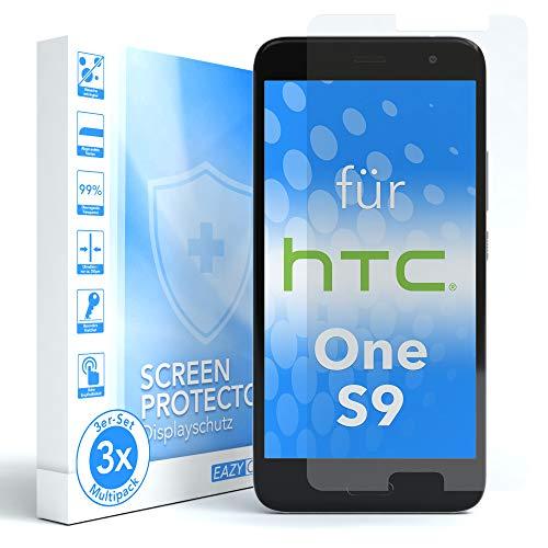 EAZY CASE 3X Displayschutzfolie für HTC One S9, nur 0,05 mm dick I Displayschutz, Schutzfolie, Displayfolie, Transparent/Kristallklar