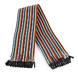 Sourcingmap a14061000ux0600 - 40 cm 2,54 mm f / f 40 pin cable de puente de color sin soldadura protoboard