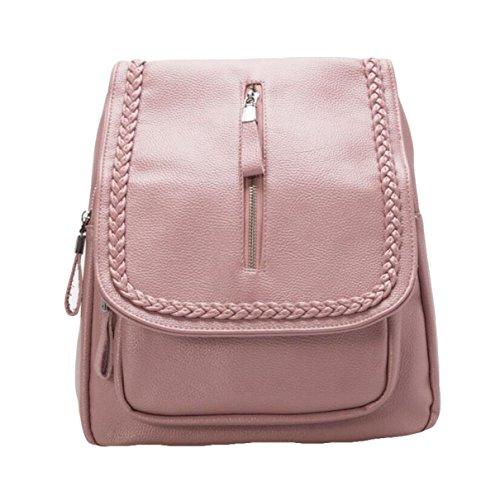 Damen Schultertasche Weichen Leder Rucksack Wilden Einfachen Tasche Freizeit Mode Handtasche Red