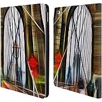 Ufficiale Haroulita Brooklyn Bridge Luoghi 2 Cover a portafoglio in pelle per Apple iPad Air 2
