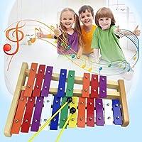 Preisvergleich für Momorain Orff Welt Professionelle 20 Ton Metall Bunte Xylophon Percussion Musikinstrument Kinder Alte Musik Lernen (Farbe: Bunte)