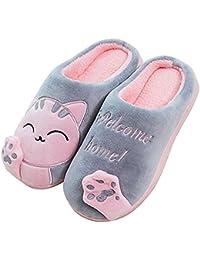 Cliont Mignon Chat Pantoufles Pantoufles Intérieur Anti Slip Chaussures Cadeau De Noël pour Les Femmes Et Les Hommes