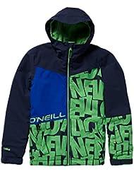 O 'Neill niño Hubble Jacket Snow, otoño/Invierno, Niños, Color Blue AOP w/Green, tamaño 164