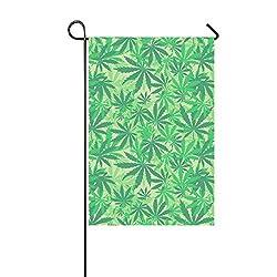 JOCHUAN Wohnkultur Cannabis Format Sehr Garten Flaghouse Yard Flaggarden Yard Decorationsseasonal Willkommen Outdoor Flagge 12X18 Zoll