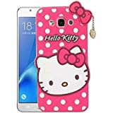 Yora Cute Hello Kitty Back Cover For Samsung Galaxy J2- Pink