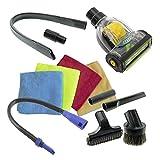Spares2go coche Valet Turbo piso cepillo Flexible boquilla para tapicería, Kit,...