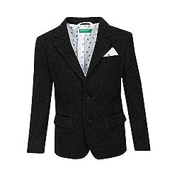 United Colors Of Benetton Boys Jacket (17A2JACKZ015I_Black_XX)