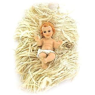 Ferrari & Arrighetti Figuras Belén: Niño Jesús en la cuna de 10 cm para Nacimiento