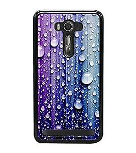 Droplets on Colourful Wall 2D Hard Polycarbonate Designer Back Case Cover for Asus Zenfone 2 Laser ZE550KL (5.5 INCHES)