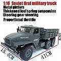 1:16 RC Six-Wheel Drive Offroad Klettern Auto Modell Fernbedienung sowjetischen Ural Military Pickup Truck großes Geschenk von Never-hu