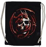 Urban Backwoods Skull & Dragon Turnbeutel Sporttasche Drachen Gothic Schädel Fantasy Totenkopf LARP...