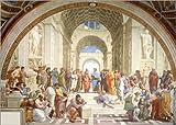 Poster 40 x 30 cm: Die Schule von Athen von Raffael -