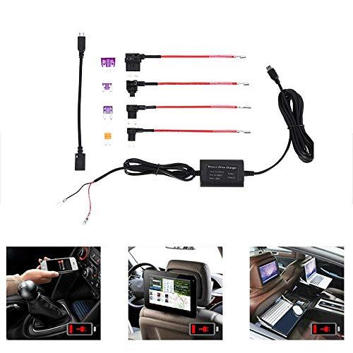 Goglor 10 Stücke Auto Dash Cam Hardwire Kit, 12 V-24 V Zu 5 V Mini USB Audio Adapter Kabel, Sicherungskasten Autofahren Recorder Hard Wire Line Kit Mit Micro USB Auto Ladegerät Drahtseil -
