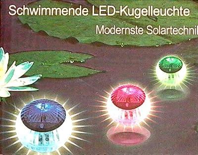 LED Schwimmleuchte Kugelleuchte Solar 4er Set 504301 von 504301 - Lampenhans.de