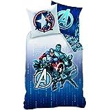 Avengers 043417 ropa de cama Blue Code, algodón almohada, 140 x 200 plus 70 x 90 cm