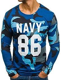 BOLF – Sweat-shirt – Manches longues – U-neck – ATHLETIC 1087 – Homme