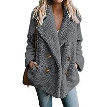 Abrigos Mujer Invierno,Parka Chaquetas Mujer Invierno,Abrigo de Piel sintética cálido Capas Cardigans