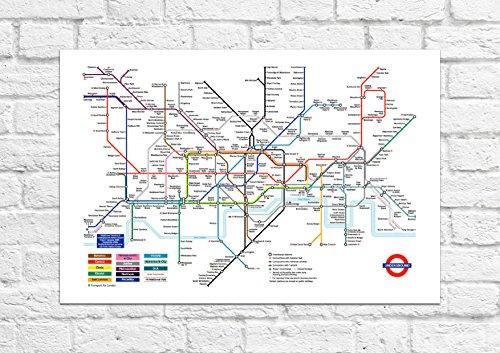 London Underground Tube Map (Tourist Souvenir) - Poster/Art - Unframed Print