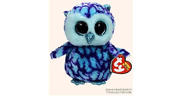New TY Beanie Boos Cute OSCAR the Blue   Purple Owl Plush Toys 6   15cm Ty  Plush Animals Big Eyes Eyed Stuffed Animal Soft Toys for Kids Gifts . eb3aad5b82b9
