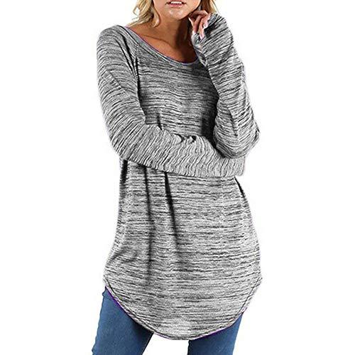 Frauen Damen Langarm T-Shirt Bluse Tops Kapuze Sweatshirt Hoodie Pullover Kleid Herbst Winter Frauit...