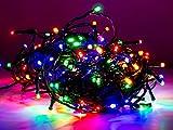 Led Lichterkette 120 Lämpchen bunt für innen und außen Strombetrieben