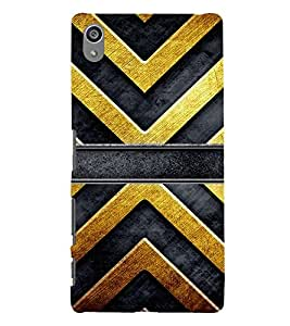 printtech Abstract Lines Design Back Case Cover for Sony Xperia Z5 Premium