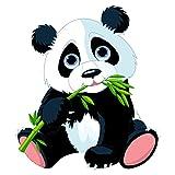 PPS. Imaging Autocollant Mural grignoter Panda, Chambre d'enfant, Ours, Illustration, Sticker Mural, Stickers muraux, Tatouages muraux, Stickers muraux, Dimensions: 45cm x 40cm