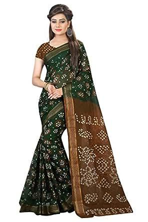 Shree Sondarya Bandhani Women's Art Silk Saree (Ssb-S3041-01_Green)