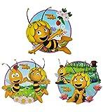 Unbekannt 3 tlg. Set: XL Fensterbilder - Biene Maja Willi Flip Honigbiene - Sticker Fenstersticker Aufkleber - selbstklebend wiederverwendbar - Fensterbild
