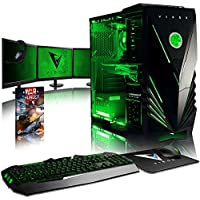 "VIBOX Warrior 7 Gaming PC Computer with Game Voucher, 3x Triple 22"" HD Monitor (4.0GHz AMD FX Quad-Core Processor, Nvidia GeForce GTX 1060 Graphics Card, 8GB RAM, 1TB HDD, No Operating System)"