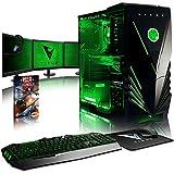 VIBOX Warrior 7 PC Gamer Ordinateur avec Jeu Bundle, 3x Triple 22' HD Écran (4,0GHz AMD FX Quad-Core Processeur, Nvidia GeForce GTX 1060 Carte Graphique, 8GB RAM, 1TB HDD, Sans OS)