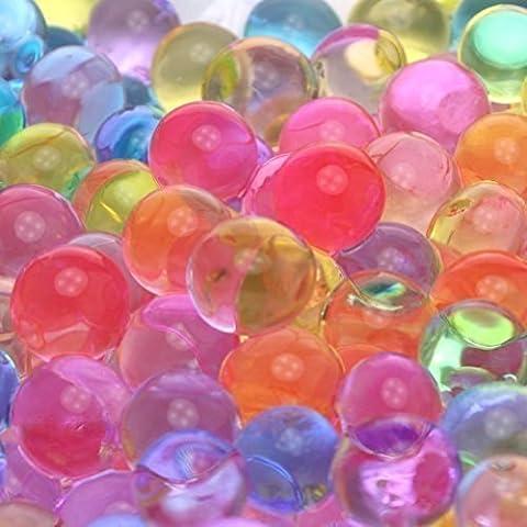 1000x Chytaii Kristall Schlamm Beads Gel Wasser Perlen Mischfarben kristallwassergels bördelt Jelly Wasserperlen (Einheit-kerze Vase)