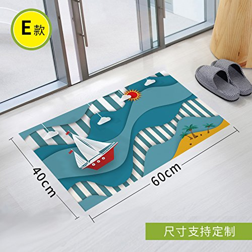 Stick Slip Sticker Toilet Scrub Toilet Waterproof Gummed Paper Twill Bathroom Glass Pad To Remove Environmental Protection, 90 * 60Cm,Four -