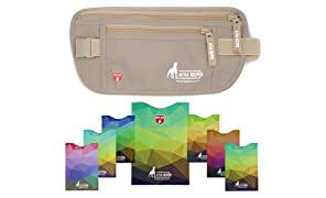 Alpha Keeper RFID Money Belt and RFID Blocking Sleeves Set