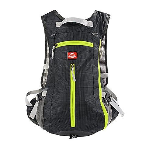Sac à dos de randonnée Maleden résistant à l'eau pour sports d'extérieur Petit sac à dos pour le cyclisme, le ski, l'escalade et les voyages avec casque et porte-bouteilles, noir, 15L