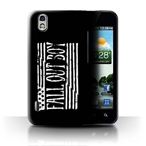 ll Hülle/Case für LG Optimus Black P970 / Flagge/Schwarz Muster/FOB Band Logo Kollektion ()