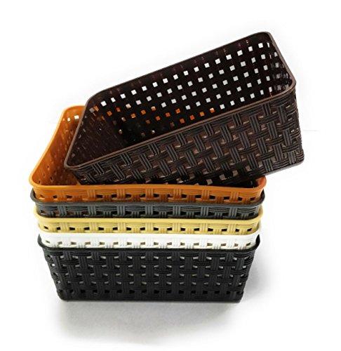 CSM Delhi Plastic Basket for Multi Storage, Medium Size(Assorted) - Pack of 6