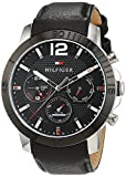 Tommy Hilfiger Mens Quartz Watch, Multi dial Display and Leather Strap 1791268