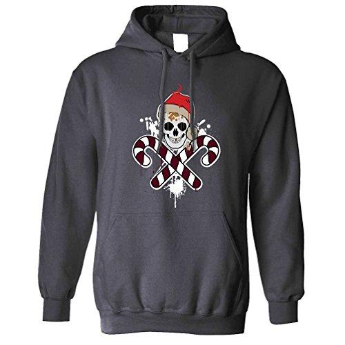 Weihnachten Kapuzenpullover Scary Weihnachten Halloween-Schädel und Knochen-Piraten-Weihnachts (Halloween-bäume Scary)