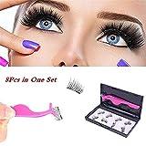 HANNEA Eyelashes Dual Magnet Glue-free 3D Reusable Premium Quality Natural Look Best False