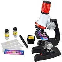 super-life 100x 400x 1200x microscopio Set Kit de microscopio Ciencia juguetes educativos para la educación temprana para niños o niños