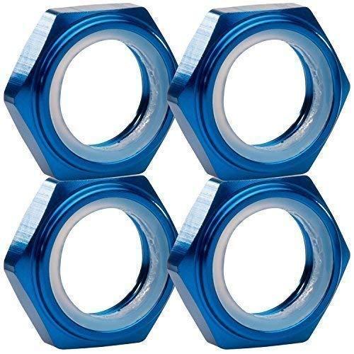 1:8 Radmuttern Stoppmuttern blau 17 mm 6-Kant 4er Set partCore 310014