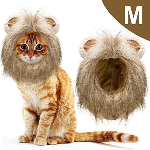 1 Pieza Gato León Traje Melena Mascota Disfraces