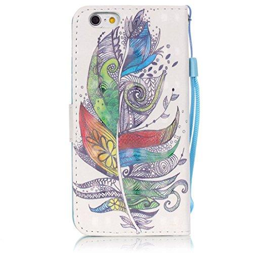 Yaking® Apple iPhone 6/6S Coque, PU Portefeuille Étui Coque Stand Flip Housse Couvrir impression Case Cover pour Apple iPhone 6/6S P-11