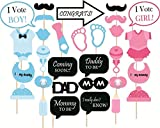#3: Crew4 Photo Bototh Board for Baby Shower Party Props - Multicolor, Set of 30