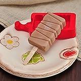 Moobom Homemade silicone cute Ice pop stampi Popsicle stampi stampo per cubetti di ghiaccio Ice Cream Maker Frozen Holder con bastoncini utensili da cucina
