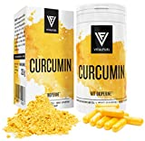 Vitalfuel® - Curcumin Extrakt mit Piperin / Bioperin - Curcuma Kapseln hochdosiert mit - Kurkuma Kapseln - 500 mg pro Tagesdosis
