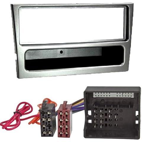 Watermark 6170/1301 Set para montaje de radio (marco y cable adaptador) para Opel Astra G, Corsa C, Agila, Zafira,